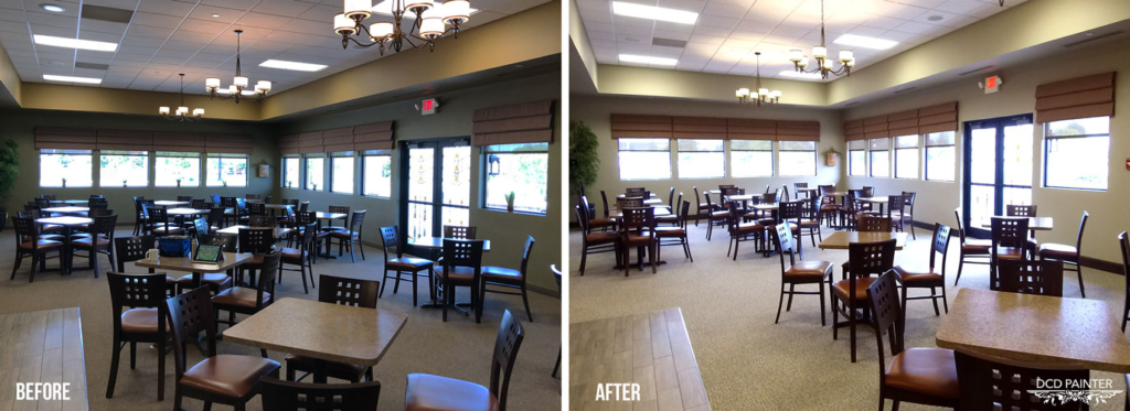 Windsor Chapel Dining Area (Before & After)