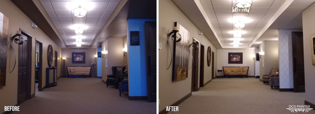 Windsor Chapel Hallway (Before & After)